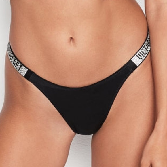 new concept more photos affordable price VS Bombshell Bling Panty XS BLACK ONLY NWT